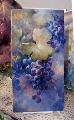 grapes celeste | ... Plus (formerly Chatty Teachers Artists) - Grapes From Concan Class - I painted these grapes from imagination. Was fun. Wish I had kept this instead of selling it.