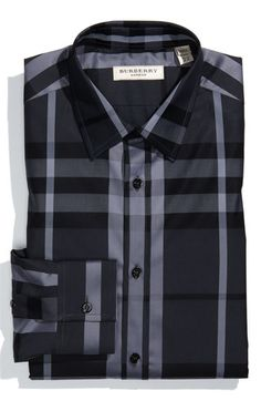 Burberry London Tailored Fit Dress Shirt available at #Nordstrom