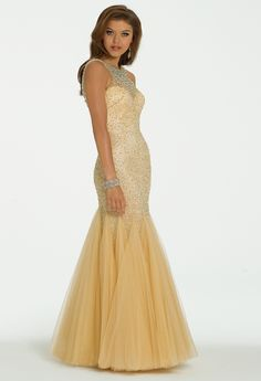Beaded Illusion Cleo Neck Dress from Camille La Vie and Group USA