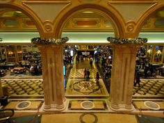 View of the casino floor at the Venetian #macau