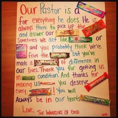 pastor appreciation ideas - Google Search