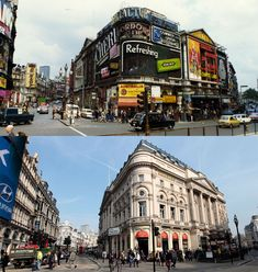 A collection of photographs taken almost 40 years apart show how London's streets have changed. In civil servant John Hutchinson photographed areas in London which were under threat of redevelopment. He feared the Victorian buildings that had surviv London Pictures, London Photos, Vintage London, Old London, Oh The Places You'll Go, Places To Visit, London Street, London Life, Victorian Buildings