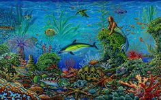 Octopus Garden by michael fishel - Fantasy art galleries at Epilogue