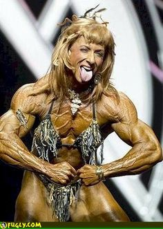 Muscle woman, or is it a man?