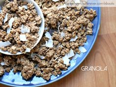 Granola recipe featured from my raw vegan recipe book #ILIKEITRAW.