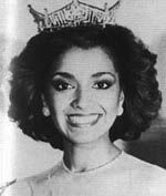 "Suzette Charles (New Jersey) Miss America 1984 (B)    She was featured in Sesame Street and Electric Company at the early age of 8. Suzette has appeared on several soap operas including CBS's The Young and the Restless, NBC's Generations and a contract role on ABC's Loving. Her vocal talent has led her to tour with Frank Sinatra, Sammy Davis Jr., Bill Cosby, Alan King and Stevie Wonder to name a few.      Suzette represented New Jersey in the Miss America Pageant in 1984 as a 1981 Presidential Scholar and was presented the Presidential gold medallion by President Ronald Reagan upon graduating. Suzette's vocal performance as a contestant won her the talent portion as she sang Barbra Streisand's ""Kiss Me In The Rain."""