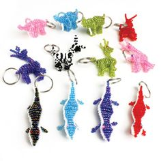 Beaded African Animal Keychain $1.79 Show your love for the creatures of Africa with these African beadwork animals. Made in Kenya. M-641 See More Here: africaimports.com