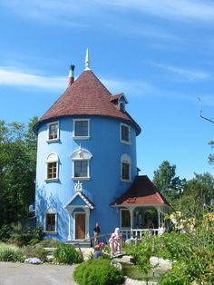 Moomin House in Finland ♡ Beautiful Architecture, Beautiful Buildings, Beautiful Homes, Beautiful Places, I Love House, My House, Moomin House, Cyan, Tower House