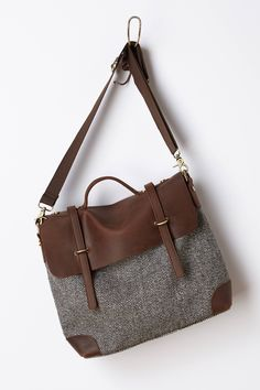 Midland Tweed Satchel - anthropologie.com