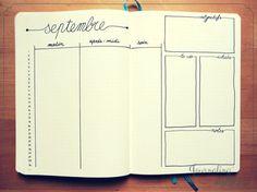 10 modèles de pages mensuelles pour votre #bulletjournal