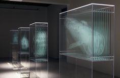 David Spriggs shows transparency through installation art. Light Installation, Art Installations, Exhibition Space, Art Plastique, Three Dimensional, Sculpture Art, Sculpture Ideas, Contemporary Art, Contemporary Sculpture