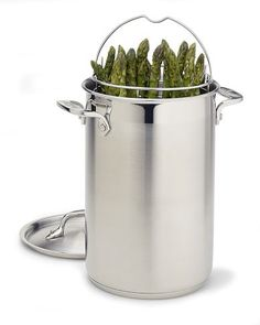 all clad stainless steel asparagus pot