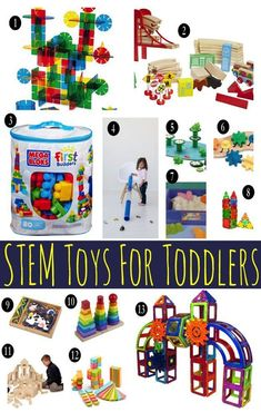STEM toys for toddlers, you asked? STEM (science, technology, engineering and math) are important to toddlers Toddler Fun, Toddler Gifts, Toddler Toys, Toddler Activities, Baby Toys, Gifts For Kids, Kids Toys, Baby Gifts, Girl Gifts