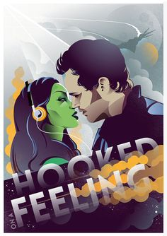 Hooked on A Feeling Gamora and Peter Quill: Starlord by Federica... #comics #art