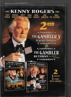 The Gambler Returns 4 Luck of Draw & 5 Playing for Keeps DVD 2-disc Kenny Rogers