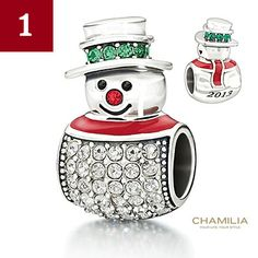 Chamilia Snowman Bead--available at McGough & Company in Whitefish Montana (406) 862-9199