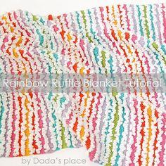Free Rainbow Ruffle Blanket Pattern