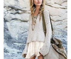 awesom outfit, sweaters, style, fashionista, art, braids, beauti, people, hair