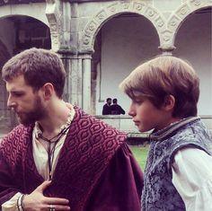 2015 Álvaro Cervantes (Charles V, Holy Roman Emperor) and Pablo Arbués (the prince Philip, later Philip II of Spain) during the filming of Carlos, Rey Emperador.