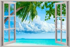 large removable faux beach scene murals - Google Search