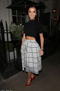 Coming through: Lucy Mecklenburgh pulled out all the stops to remain the centre of attenti...