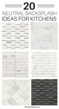How to design a kitchen backsplash and Neutral tiles for kitchen backsplashes. When it comes to designing a kitchen, the backsplash is usually the finishing touch. It helps unify the space and add a bit of flair. These tips should make it easier. Backsplash With Dark Cabinets, Beadboard Backsplash, Herringbone Backsplash, Backsplash Marble, Backsplash Design, Cupboards, Dark Countertops, Kitchen Cabinets, White Cabinets