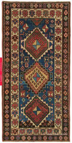 Offering a uniquely confident expression, this breathtaking Caucasian Kazak antique carpet reveals with tremendous vitality its tribal weaver's joyful artistic approach. Shag Carpet, Diy Carpet, Rugs On Carpet, Persian Carpet, Persian Rug, Textiles, Art Chinois, Rug Texture, Art Japonais