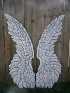 Giant Wood Carved Angel Wings Large and Dramatic in White or Gold 4ft Tall on Etsy, $385.00