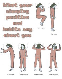 What your sleeping position and habits say about you