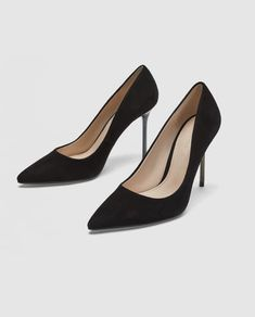 Image 2 of LEATHER HIGH-HEEL COURT SHOES WITH CHROME HEELS from Zara