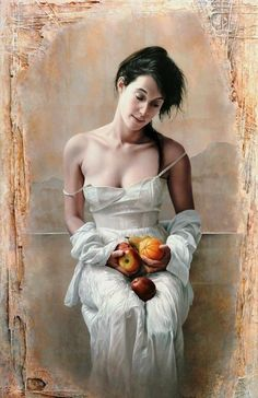Artist Pascal Chove   woman paintings