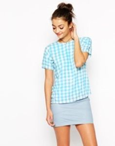 motel pacey top  blue  #covetme