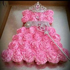 Pink Princess Cupcake Cake- so adorable. #OutstandingBooks