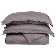 Torrance Egyptian Cotton Duvet Set in Grey