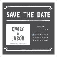 Wedding Save The Date Templates Vector  Graphic    The