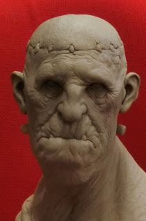 Aris Kolokontes (not PC but he is Greek and great! Easy Clay Sculptures, Sculpture Clay, Impression 3d, Frankenstein, Character Art, Character Design, Arte Black, Zombie Face, Traditional Sculptures