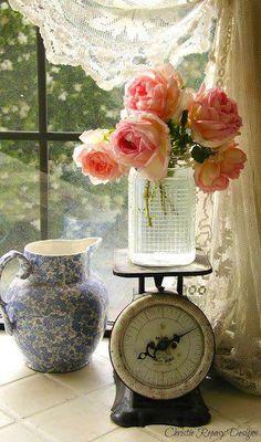 Pretty old fashioned kitchen items