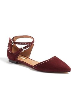 Halogen® 'Bristal' Ankle Strap Pointy Toe Flat (Women) available at #Nordstrom