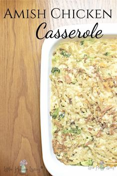 Need a delicious, comforting supper? This Amish Chicken Casserole is something that the whole family will enjoy! Chicken Casserole, Casserole Dishes, Casserole Recipes, Easy Chicken Recipes, Real Food Recipes, Cooking Recipes, Amish Food Recipes, Sweet Recipes, Easy Recipes