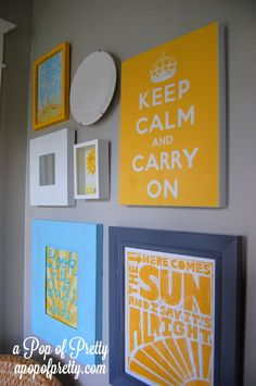 DIY Wall Art Idea How to Paint an Inspirational-Quote Canvas Diy Wall Art, Diy Wall Decor, Canvas Wall Art, Quote Canvas, Revere Pewter Benjamin Moore, Laundry Room Art, Blue Home Decor, Affordable Home Decor, Decorating Blogs