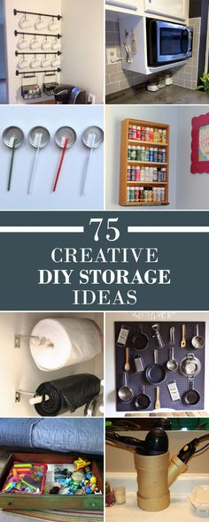75 Creative DIY Storage Ideas to Organize Your Space