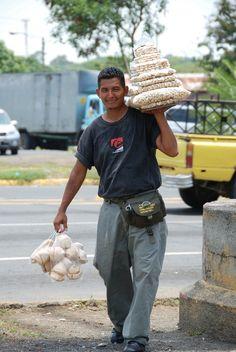 Cashew Nuts Street Seller - Managua, Managua - Nicaragua