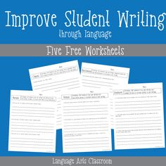 Improve student writing with grammar.