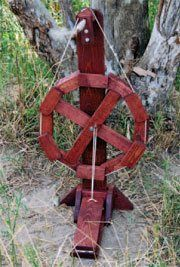 Build your own Spinning Wheel for only seven dollars and fifty cents!  Scott Porter's Dodec spinning wheel plans