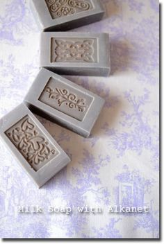Milk Soap with alkanet-infused olive oil ❖