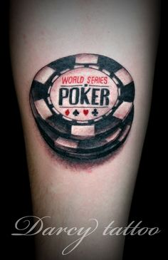 poker tattoo designs | Not Around Poker Code Tattoos Chips Sort Are Designed Within
