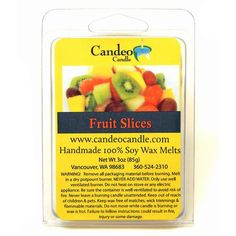 2-Pack Pomegranate Soy Melt Cubes by Candeo Candle