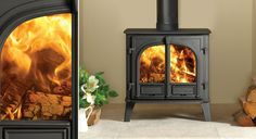 The Stovax Stockton 5 Wide offers the impressive flame visuals of a large format wood burning and multi-fuel stove but with a heat output suitable for Multi Fuel Stove, Wood Burning, Home Appliances, Lounge, Foyer, Stoves, Firewood, House Appliances, Airport Lounge