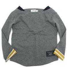TAPPET(タペット):ボートネック無地ロンT チャコール(CH) の通販【ブランド子供服のミリバール】