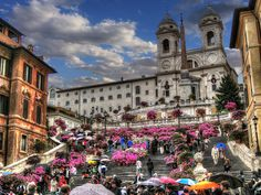 Piazza di Spagna, the Spanish Steps Spanish Steps is one of the most famous squares of Rome, Italy.